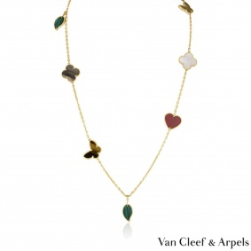 Van Cleef & Arpels Yellow Gold Lucky Alhambra Long Necklace VCARD80100